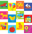 Toys set for baby and child vector