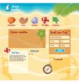 Beach background for website vector