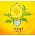 Lamp in the form of lemon idea vector