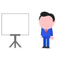 Businessman standing beside chart vector