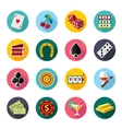 Colorful flat icons set quality design vector