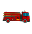 Fire truck cartoon vector