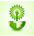 Helping hand make tree on earth vector