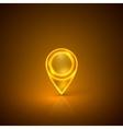 Golden map marker vector