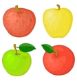 Fruits apples vector