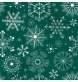 Christmas seamless green white pattern vector