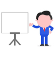 Businessman gesturing beside chart vector