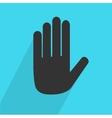 Hand stop icon vector