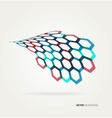 Abstract wave hexagons template vector