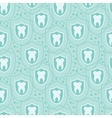 Healthy teeth seamless pattern background vector