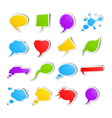 Bubble speech stickers vector