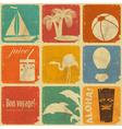 Set of vintage travel labels vector