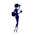 Stylish girl silhouette vector