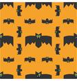 Seamless pattern of bats decorative background vector