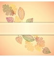 Ornamental background with art autumn leaves and vector
