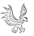 Abstract tattoo eagle vector