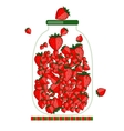 Jar with berry jam for your design vector
