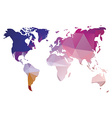 World map in geometric triangle pattern design vector