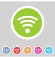 Wireless wifi flat icon vector
