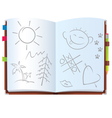 Notepad with pictures vector