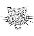 Abstract tattoo tiger vector