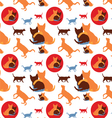 Seamless lovely cats pattern vector