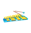 Icon xylophone vector