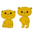 Teddy bears friends vector