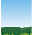 Western mountain landscape vector