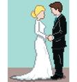 Pixel wedding background vector