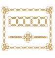 Chains of gold rings vector