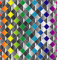 Colorful metal grid background vector