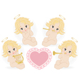 Set of small angels vector
