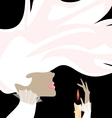 White lady and candle vector