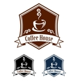 Coffee retro banner vector