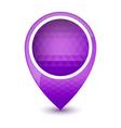 Purple round 3d map pointer vector