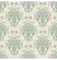 Blue baroque bright pattern vector