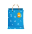 Paper shopping bag isolated on white vector