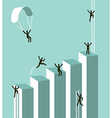 Reaching to business success vector