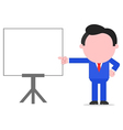 Businessman pointing to chart vector