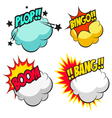 Set speech bubbles vector