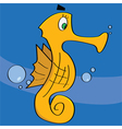Cartoon sea horse vector