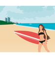 Surfer girl vector