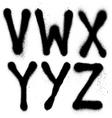 Detailed graffiti spray paint font type part 4 vector