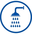 Blue sign with shower head vector