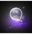 With silver speech bubble vector