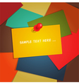 Paper card background vector