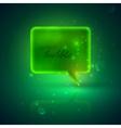 With a green speech bubble vector