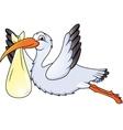 Stork in flight vector