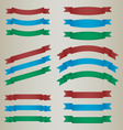 Collection of colorful retro ribbons vector